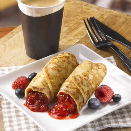 Creapan Strawberry Filled Crepes [4x65g][HALAL]